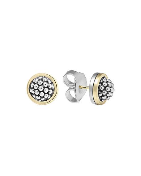 Lagos 10mm Caviar Button Stud Earrings