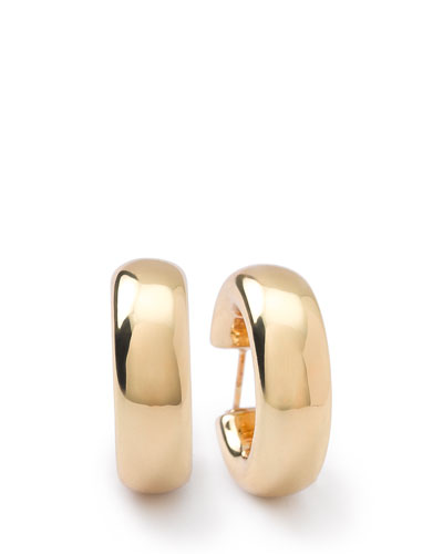 18K Glamazon Thick Small Flat Hoop Earrings