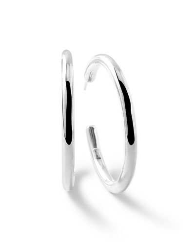 Sterling Silver Glamazon #4 Hoop Earrings