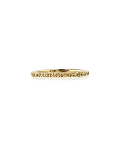 Sueno 18k Gold Diamond Eternity Band Ring