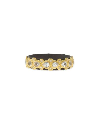 Pear Sapphire & Diamond Band Ring