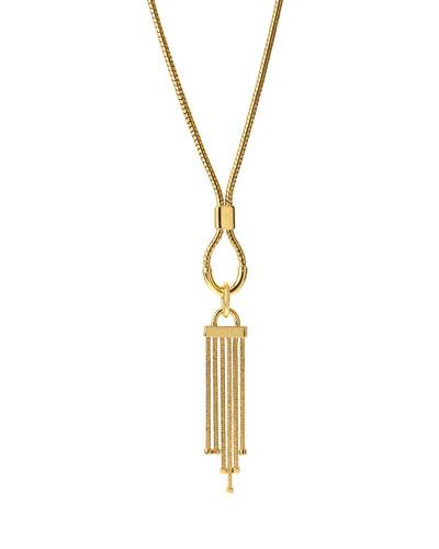 Snake Chain Tassel Pendant Necklace