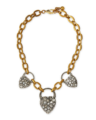 Blackheart Rhinestone Necklace