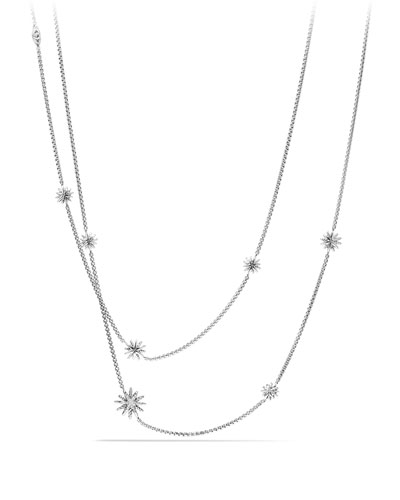 Starburst Station Necklace with Diamonds, 36