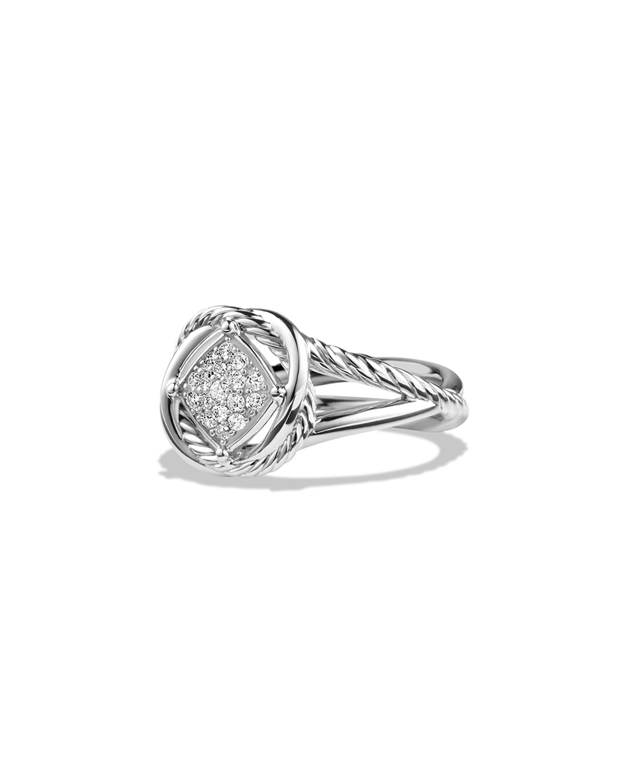 7mm Infinity Pave Diamond Ring