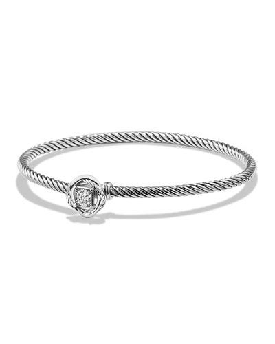 Infinity Bracelet with Diamonds, Size M