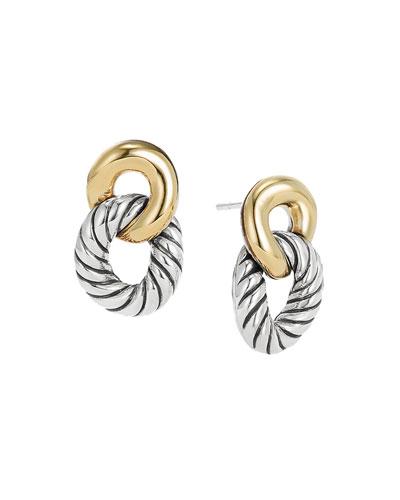 Drop Earrings with 18k Gold