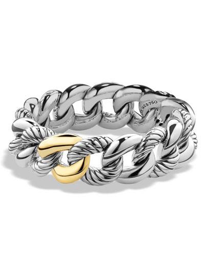 Belmont Curb Link Bracelet with 18k Gold