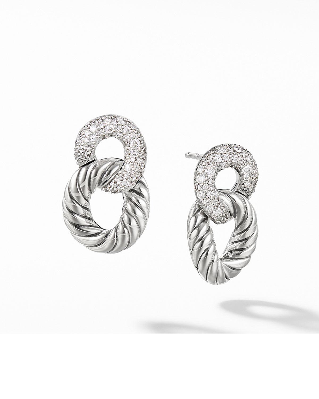 Belmont Drop Earrings with Diamonds