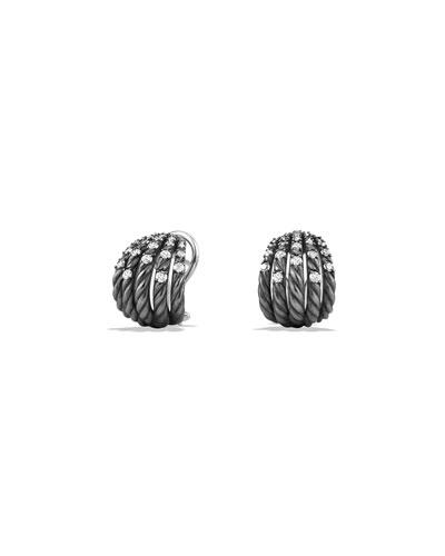 Tempo Pavé Diamond Huggie Earrings