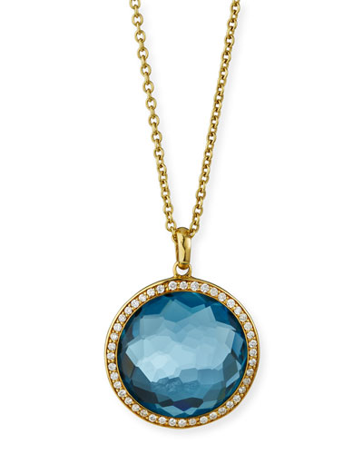 18K Gold Rock Candy Lollipop Necklace with Diamonds