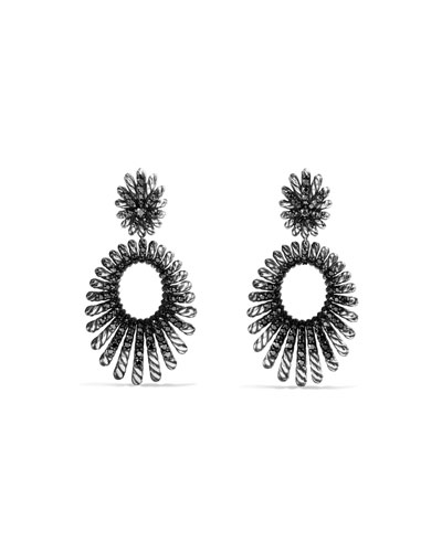 Tempo Double-Drop Black Spinel Earrings