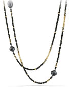 Chatelaine Necklace with Hematine, Black Spinel & 18k Gold