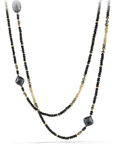 David Yurman Chatelaine Necklace with Hematine, Black Spinel & 18k Gold