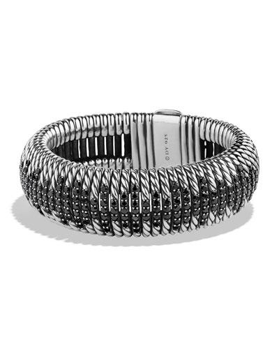 20mm Tempo Black Spinel Cuff Bracelet
