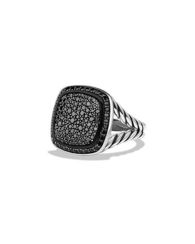 Ring with Black Diamonds, 14mm