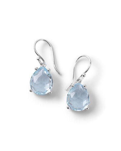 Silver Rock Candy Pear Drop Earrings in Blue Topaz