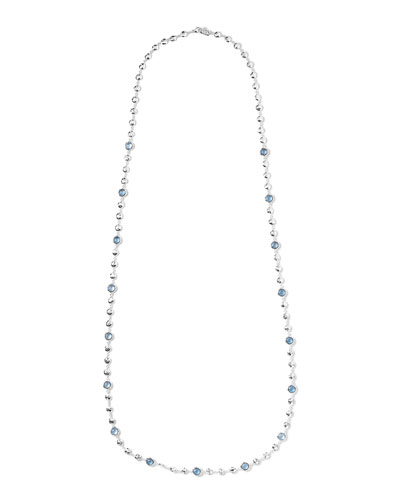 Silver Rock Candy Multi-Stone Necklace in Blue Topaz, 40
