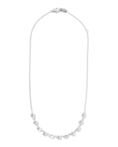 Silver Rock Candy Multi-Shape Stone Necklace, Clear Quartz