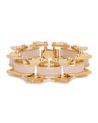 Riveted Mini Satellite Bracelet, Pink