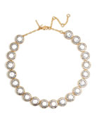 Token Crystal Collar Necklace