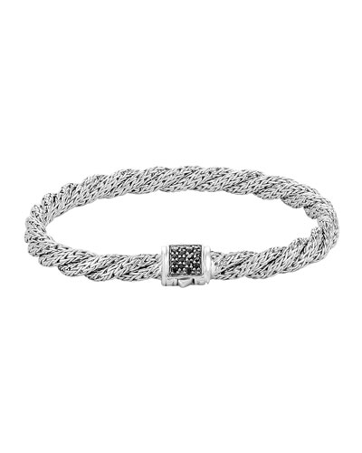 Classic Chain Extra-Small Silver Lava Bracelet, Size M