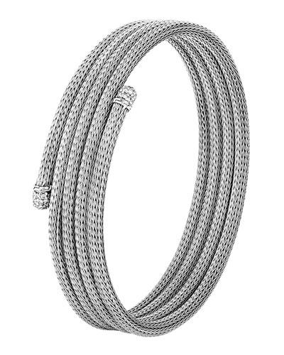 Classic Chain Small Diamond Coil Bracelet, Size M