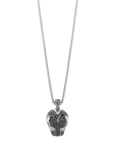 Classic Chain Macan Lava Pendant Necklace