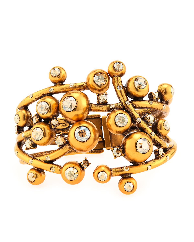 Ball & Crystal Hinge Bracelet