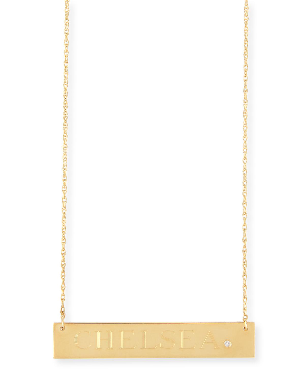Harley Personalized Diamond Bar Necklace