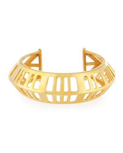 Gold-Plated Cage Cuff Bracelet