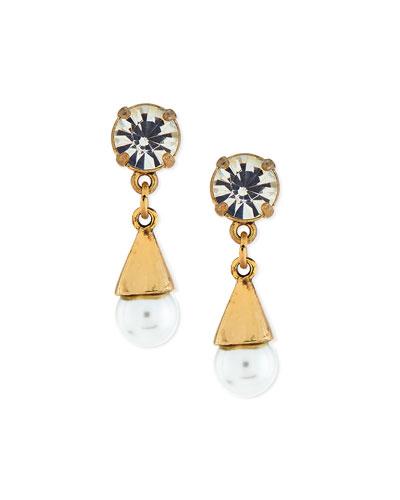 Lustre Glass-Pearl Earrings