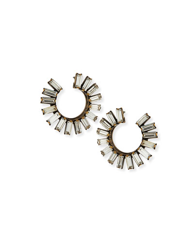 Stella Crystal Hoop Earrings