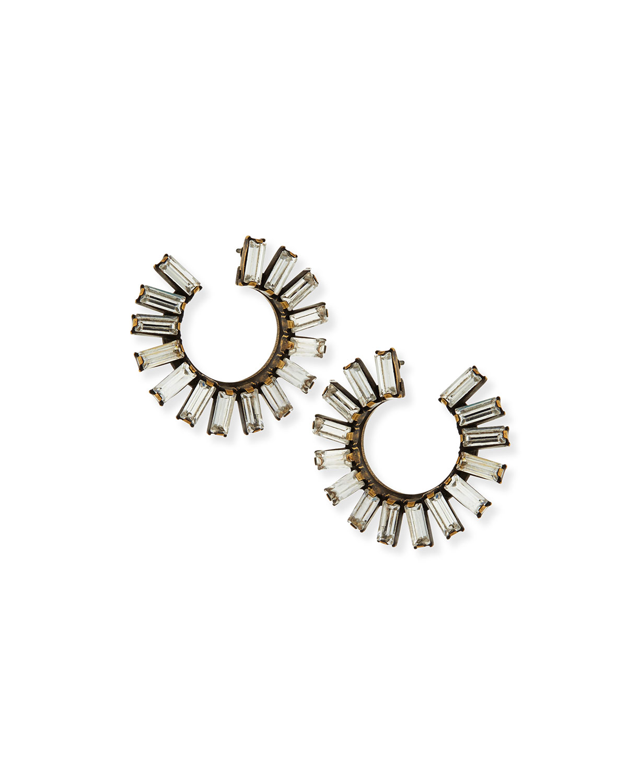 Stella Crystal Hoop Earrings