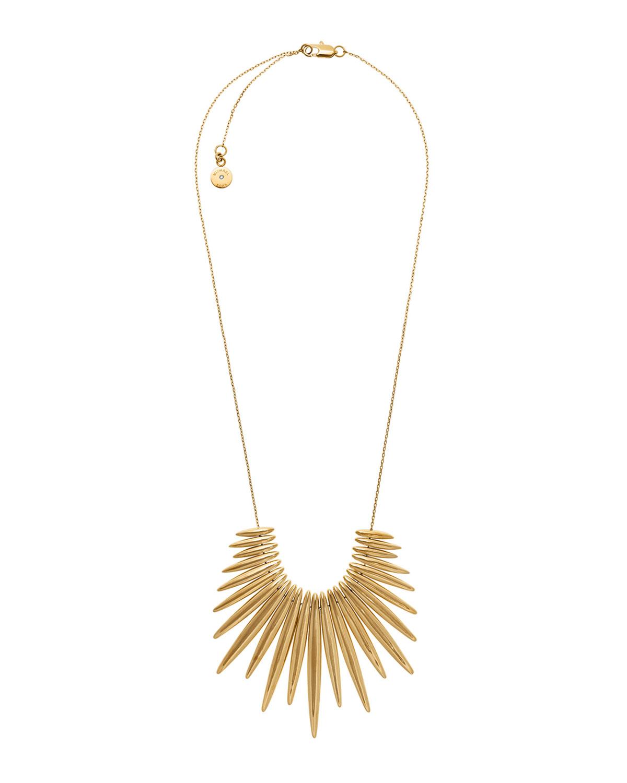 Golden Tribal Pendant Necklace