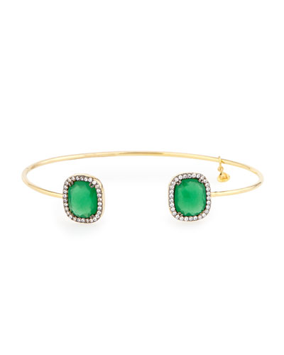 Palace Glass & Pave Pinch Bracelet