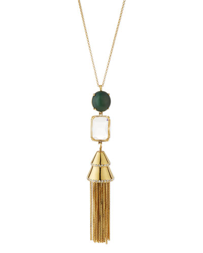 Sands of Time Fishtail Tassel Pendant Necklace