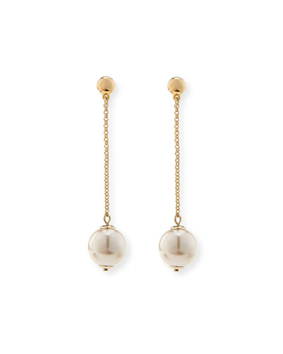 Sands of Time Pendulum Pearly Drop Earrings