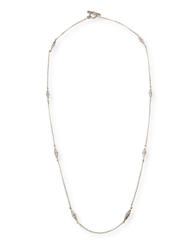 Sterling Silver Eight-Station Long Necklace, 36