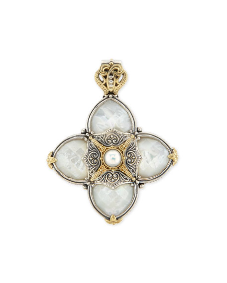 Konstantino Silver & 18k Gold Mother-of-Pearl Pendant