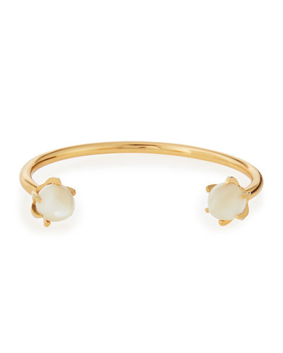 Eclipse Mother-of-Pearl Cuff Bracelet, Pearl