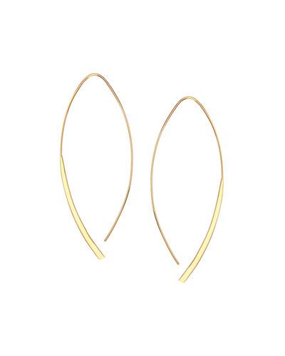 14k Small Arch Hoop Earrings