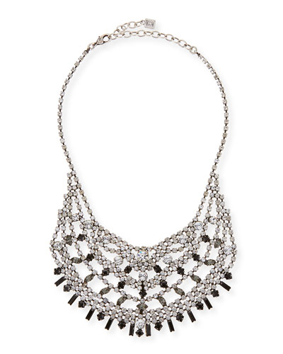 Steinem Jet Crystal Bib Necklace