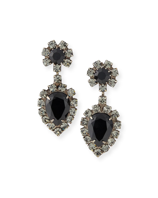 Mirabella Jet Crystal Earrings