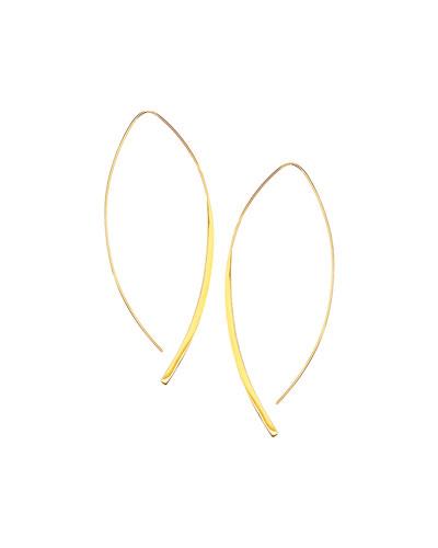 14k Gold Large Arch Hoop Earrings