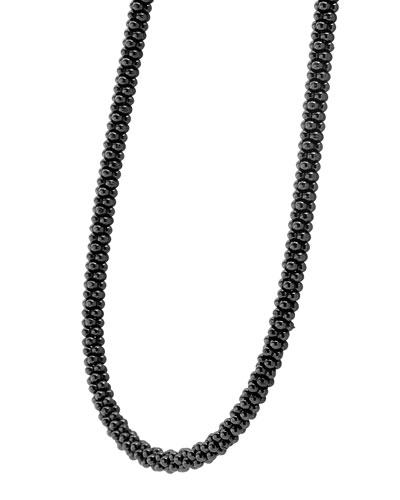 Black Caviar Rope Necklace, 16