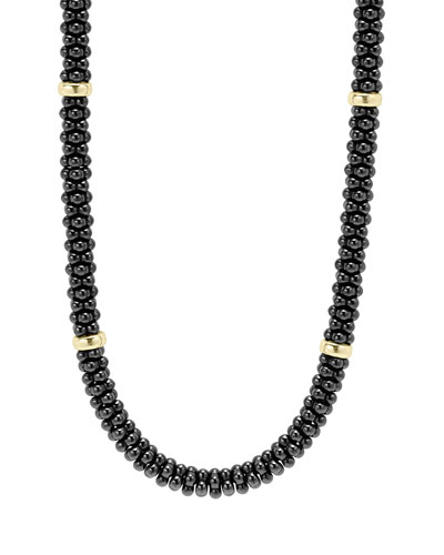 Black Caviar 8-Bar Beaded Necklace