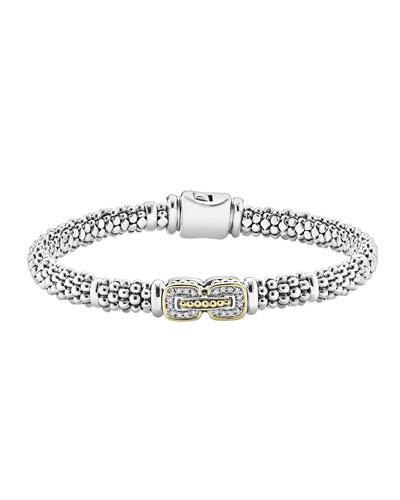 Silver Pave Diamond Bracelet