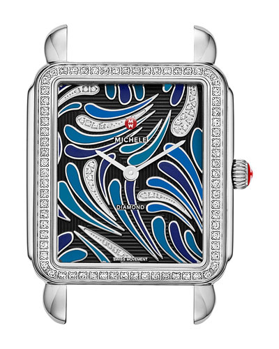 18mm Deco Diamond Peacock Watch Head