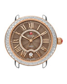 16mm Serein Diamond Cocoa Watch Head, Two-Tone